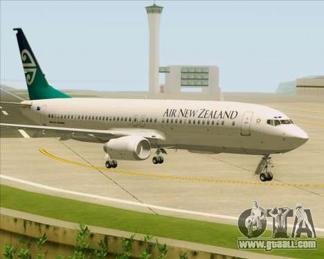 Boeing 737-800 Air New Zealand for GTA San Andreas left view