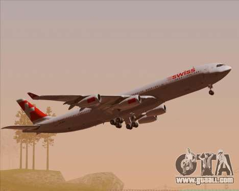 Airbus A340-313 Swiss International Airlines for GTA San Andreas upper view