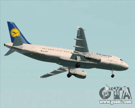 Airbus A320-211 Lufthansa for GTA San Andreas upper view
