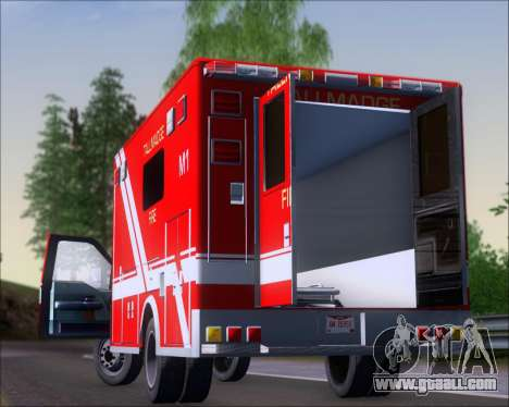 Ford F-350 Super Duty TFD Medic 1 for GTA San Andreas back view