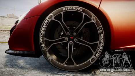McLaren 650S Spider 2014 [EPM] Michelin v2 for GTA 4 back view