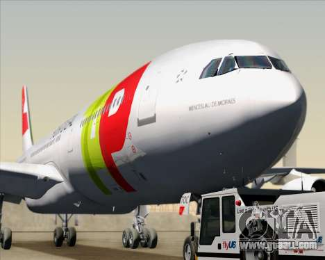 Airbus A340-312 TAP Portugal for GTA San Andreas inner view