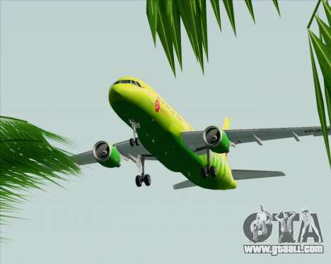 Airbus A320-214 S7-Siberia Airlines for GTA San Andreas side view
