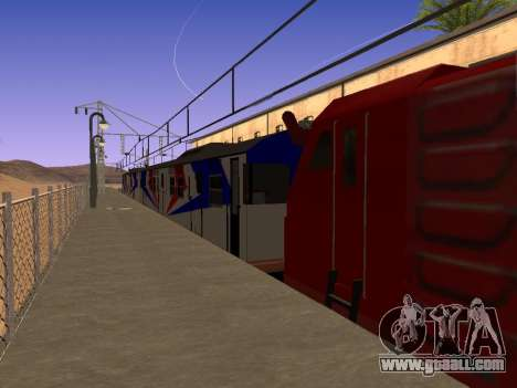 Indonesian diesel train MCW 302 for GTA San Andreas left view
