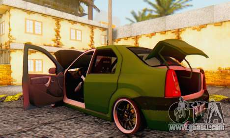 Dacia Logan MOR for GTA San Andreas inner view