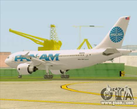 Airbus A310-324 Pan American World Airways for GTA San Andreas right view