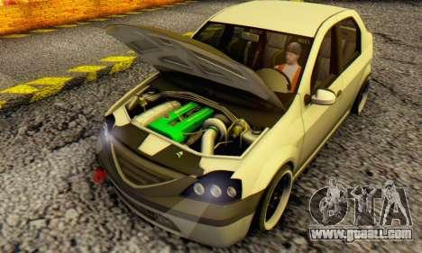 Dacia Logan MOR for GTA San Andreas left view