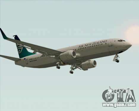 Boeing 737-800 Air New Zealand for GTA San Andreas bottom view