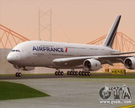 Airbus A380-861 Air France for GTA San Andreas back left view