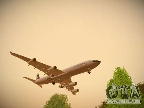 Airbus A340-300 Cathay Pacific for GTA San Andreas left view