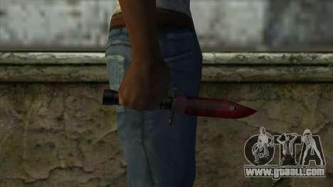 Bayonet M9 for GTA San Andreas third screenshot