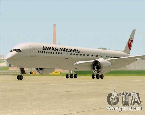 Airbus A350-941 Japan Airlines for GTA San Andreas back left view