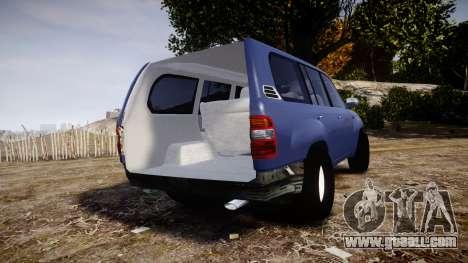 Toyota Land Cruiser for GTA 4 back left view