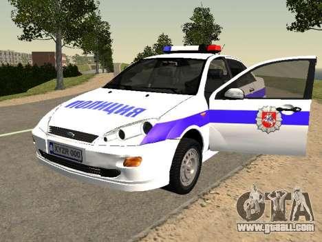 Ford Focus Police Nizhny Novgorod region for GTA San Andreas