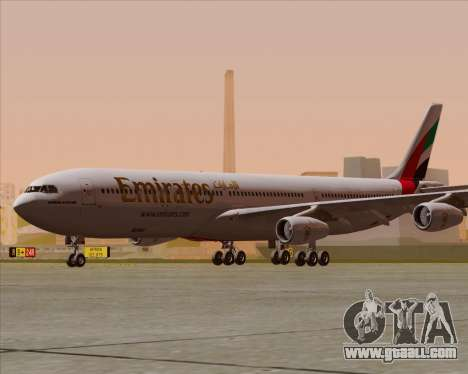 Airbus A340-313 Emirates for GTA San Andreas back left view