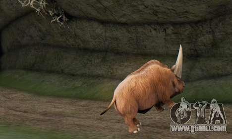 Elasmotherium (Extinct Mammal) for GTA San Andreas forth screenshot