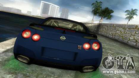 Nissan GT-R SpecV Black Revel for GTA Vice City back left view