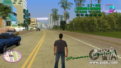 Green Font Color With Logo for GTA Vice City third screenshot