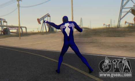 Skin The Amazing Spider Man 2 - Suit Symbiot for GTA San Andreas third screenshot