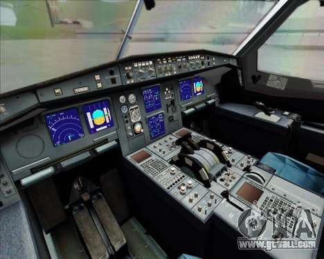 Airbus A340-642 Iberia Airlines for GTA San Andreas inner view