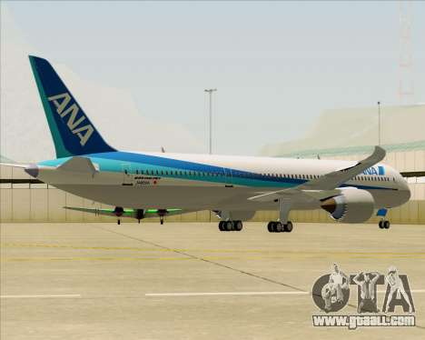 Boeing 787-9 All Nippon Airways for GTA San Andreas back view