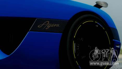 Koenigsegg Agera R for GTA San Andreas back view