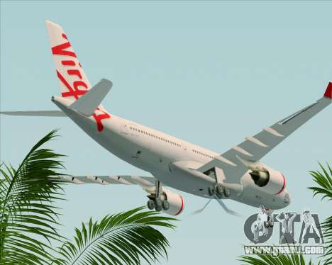 Airbus A330-200 Virgin Australia for GTA San Andreas upper view
