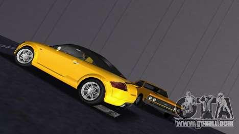 Audi TT Coupe BiMotor Black Revel for GTA Vice City back view