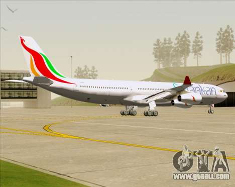 Airbus A340-313 SriLankan Airlines for GTA San Andreas back view