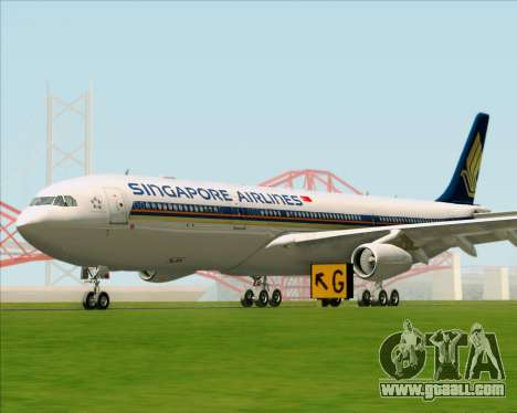 Airbus A340-313 Singapore Airlines for GTA San Andreas left view