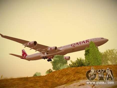 Airbus A340-600 Qatar Airways for GTA San Andreas left view