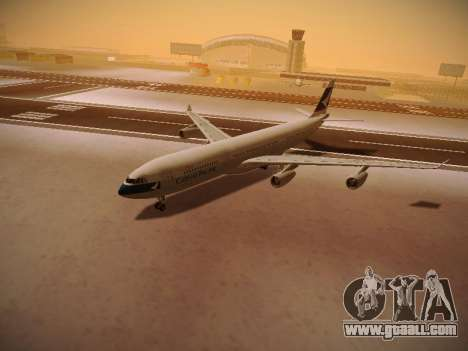 Airbus A340-300 Cathay Pacific for GTA San Andreas bottom view