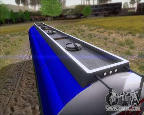 Trailer tank Carro Copec for GTA San Andreas inner view