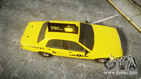 GTA V Vapid Taxi LCC for GTA 4 right view