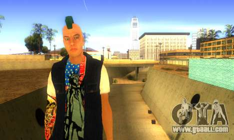 Punk v2 for GTA San Andreas second screenshot