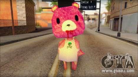 Gloomy the Foxy Bear Ped Skin for GTA San Andreas