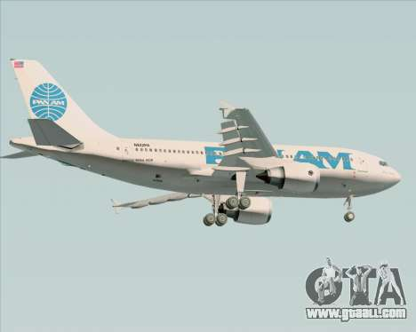 Airbus A310-324 Pan American World Airways for GTA San Andreas back view