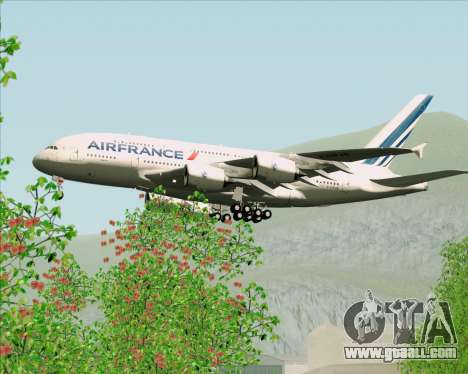 Airbus A380-861 Air France for GTA San Andreas bottom view