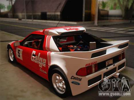 Ford RS200 Evolution 1985 for GTA San Andreas