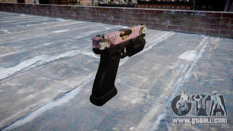 Pistol Glock 20 kawaii for GTA 4 second screenshot