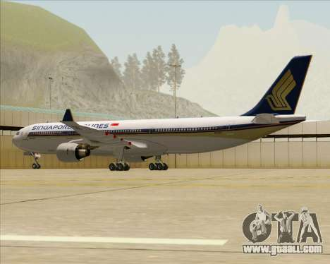 Airbus A330-300 Singapore Airlines for GTA San Andreas back view