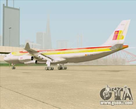 Airbus A340 -313 Iberia for GTA San Andreas back view