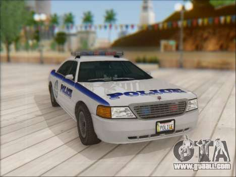 Admiral Police for GTA San Andreas side view