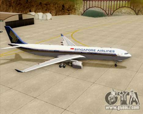 Airbus A330-300 Singapore Airlines for GTA San Andreas upper view