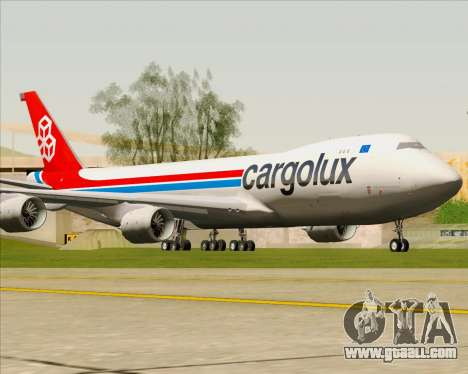 Boeing 747-8 Cargo Cargolux for GTA San Andreas left view