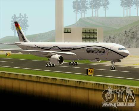 Airbus A330-300 Fly International for GTA San Andreas side view
