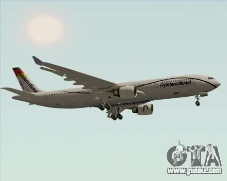 Airbus A330-300 Fly International for GTA San Andreas back view