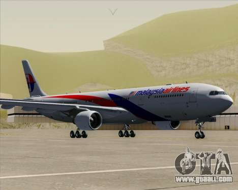 Airbus A330-323 Malaysia Airlines for GTA San Andreas back left view