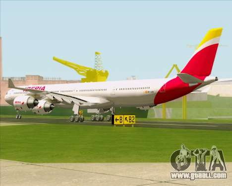 Airbus A340-642 Iberia Airlines for GTA San Andreas back left view