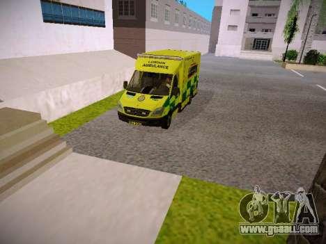 Mercedes-Benz Sprinter London Ambulance for GTA San Andreas back view
